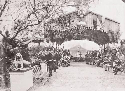 Exposición Rural en el Jardín de La Florida (1875)